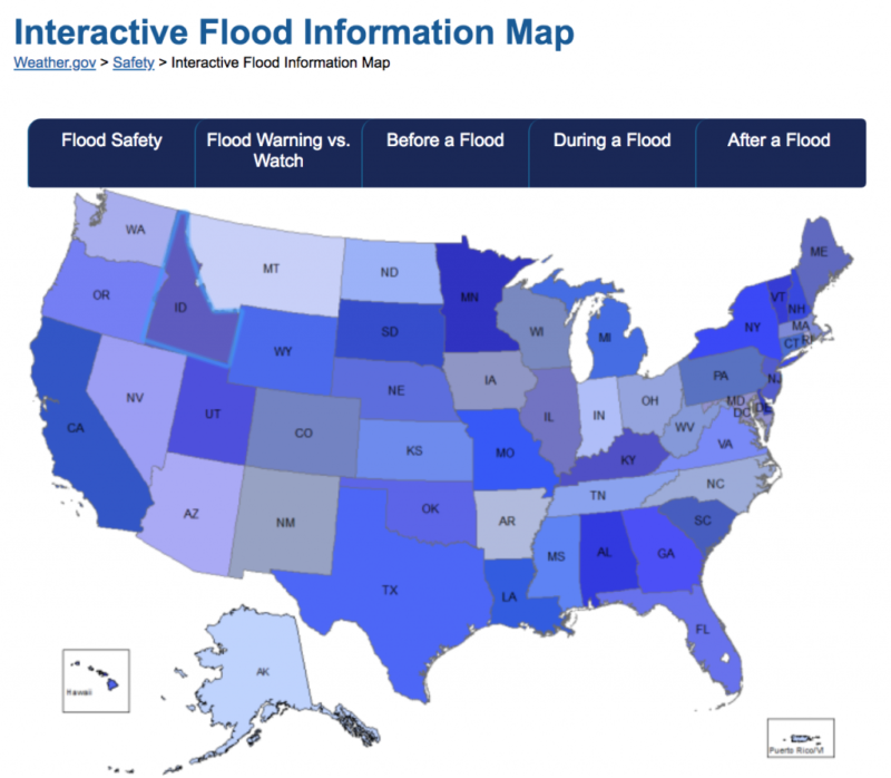 Flood Information Map